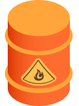 freight shipping barrel