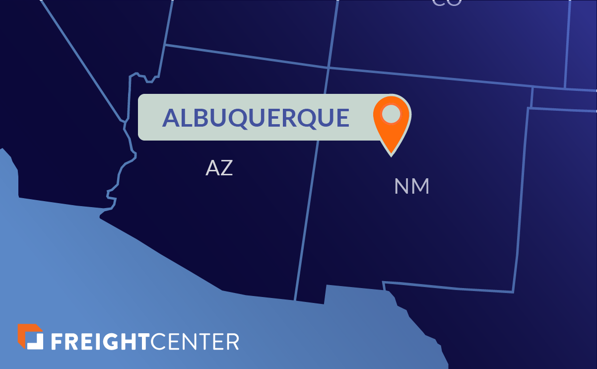 Albuquerque freight shipping map