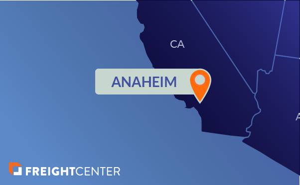 Anaheim freight shipping map