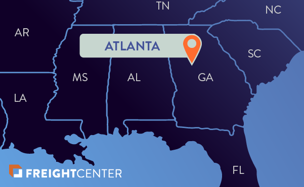 Atlanta freight shipping map