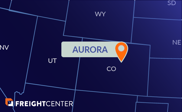 Aurora freight shipping map