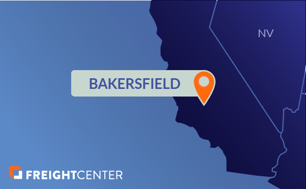 Bakersfield freight shipping map