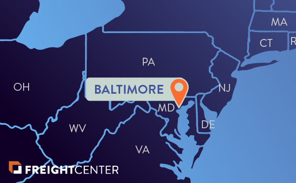 Baltimore freight shipping map