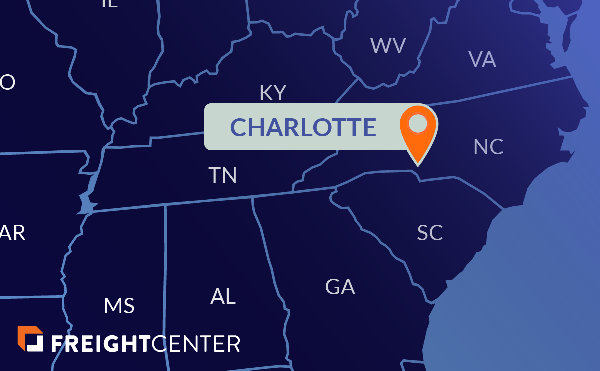 Charlotte freight shipping map