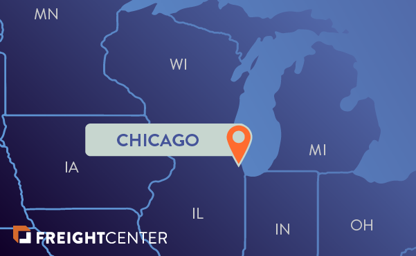Chicago freight shipping map