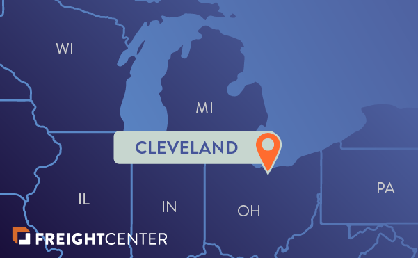 Cleveland freight shipping map