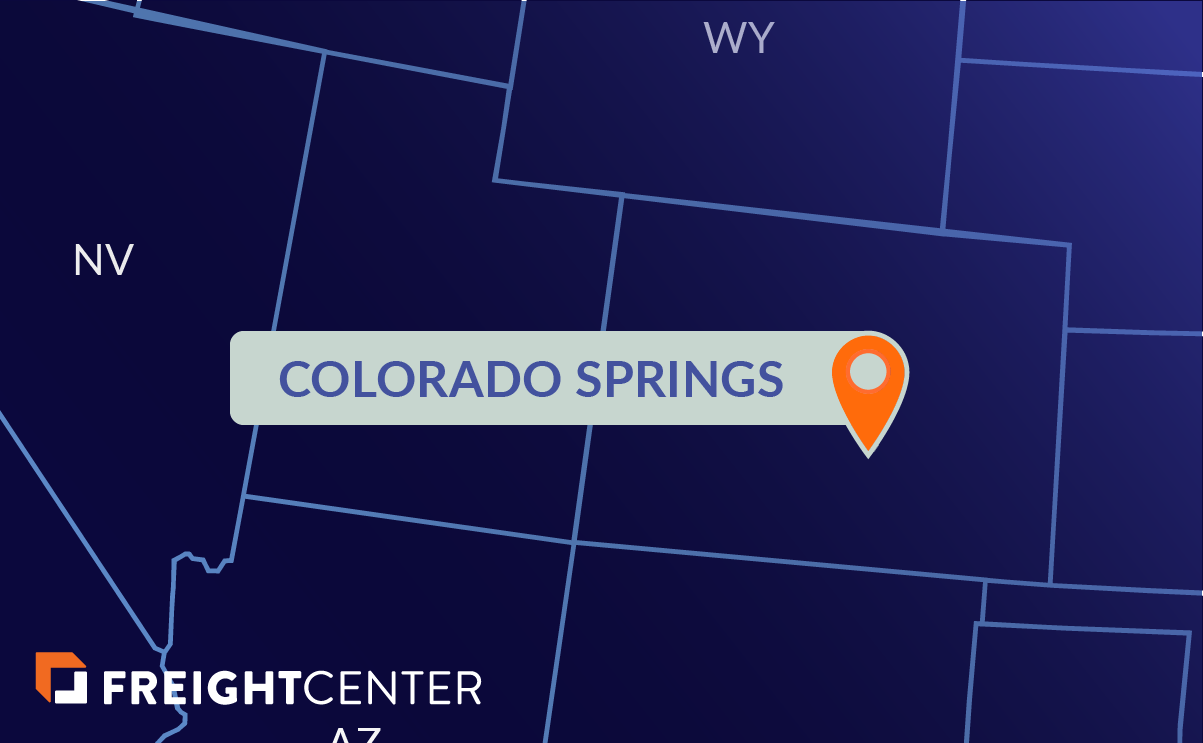 Colorado Springs freight shipping map