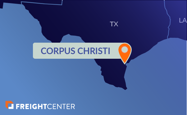 Corpus Christi freight shipping map