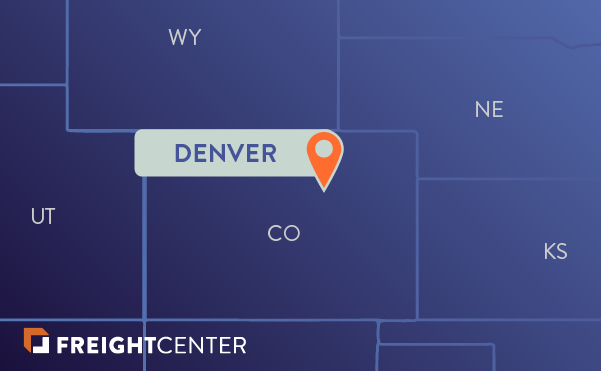 Denver freight shipping map