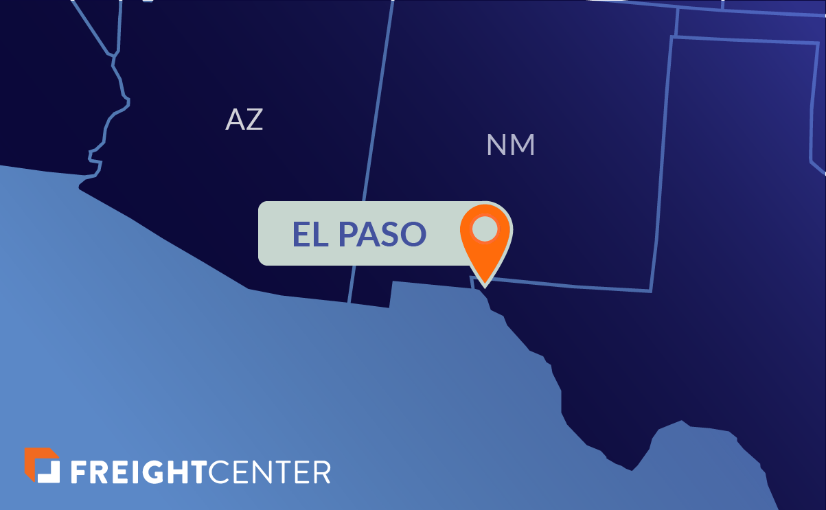 El Paso freight shipping map