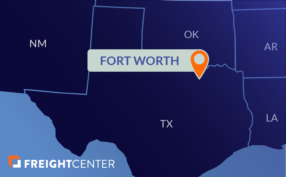 Fort Worth freight shipping map
