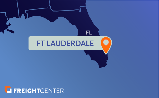 Ft. Lauderdale freight shipping map