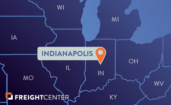 Indianapolis freight shipping map