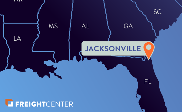 Jacksonville freight shipping map