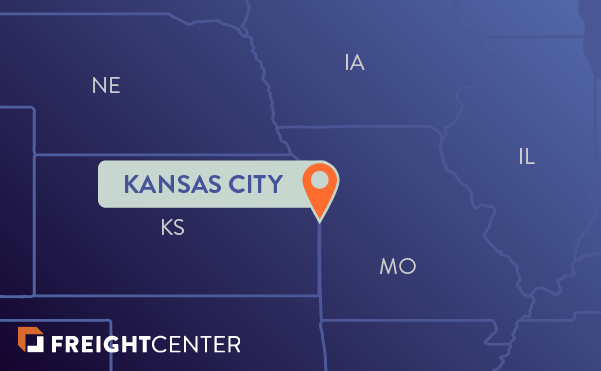 Kansas City freight shipping map