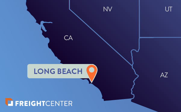 Long Beach freight shipping map