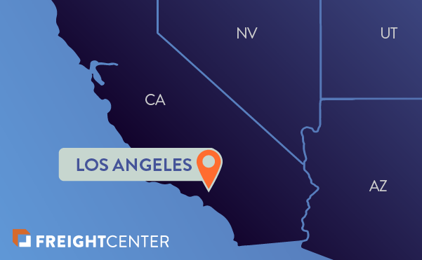 Los Angeles freight shipping map