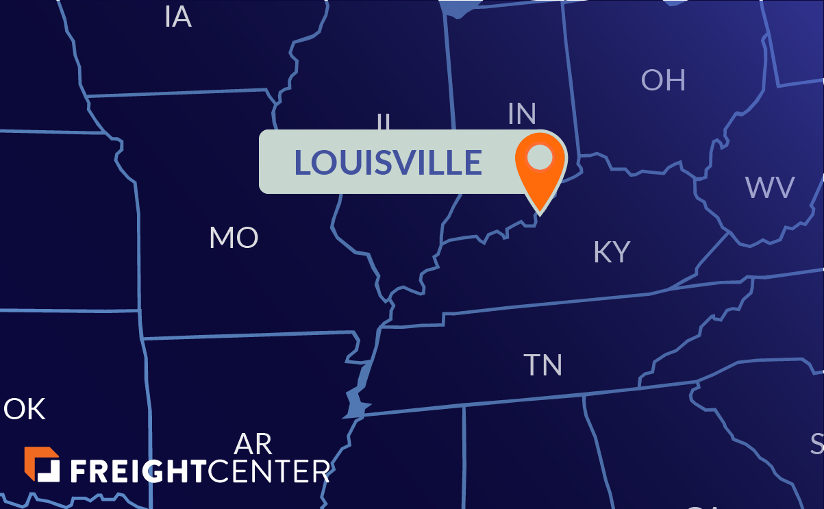 Louisville freight shipping map