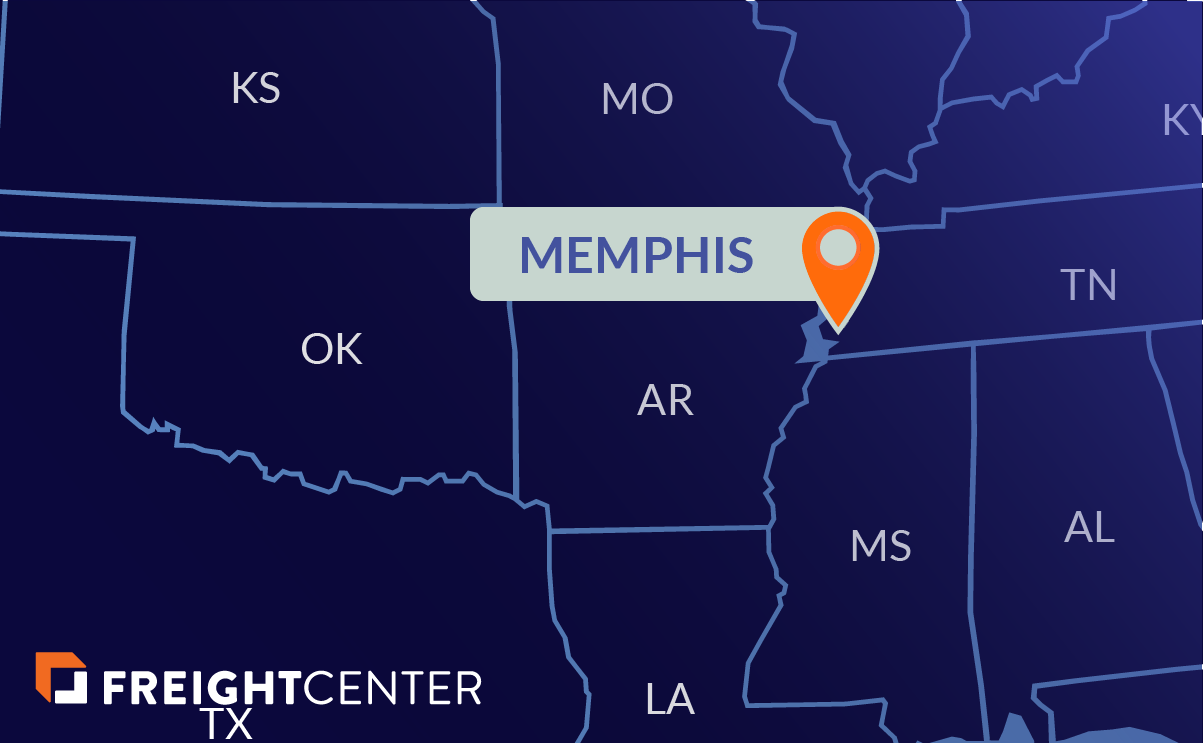 Memphis freight shipping map