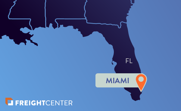 Miami freight shipping map