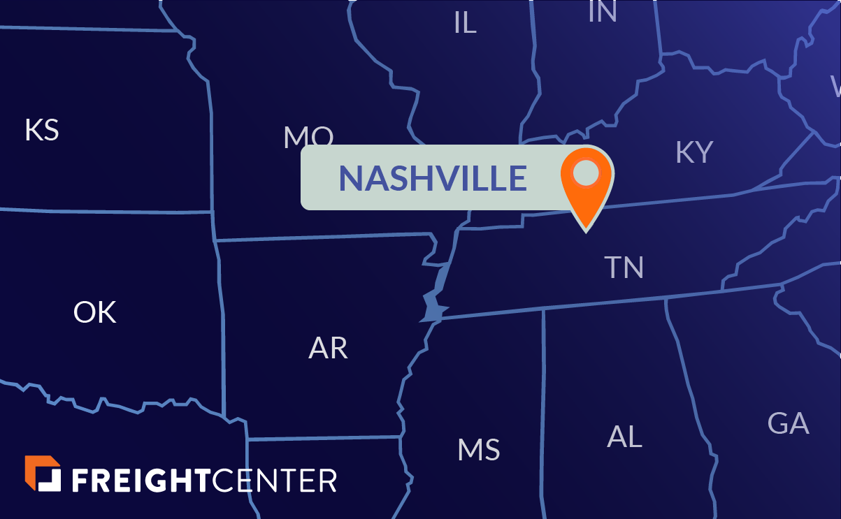 Nashville freight shipping map
