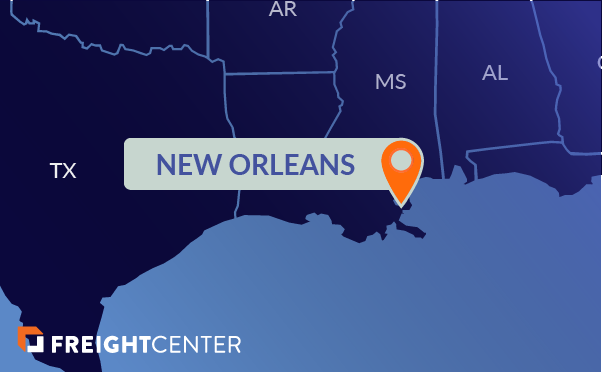 New Orleans freight shipping map