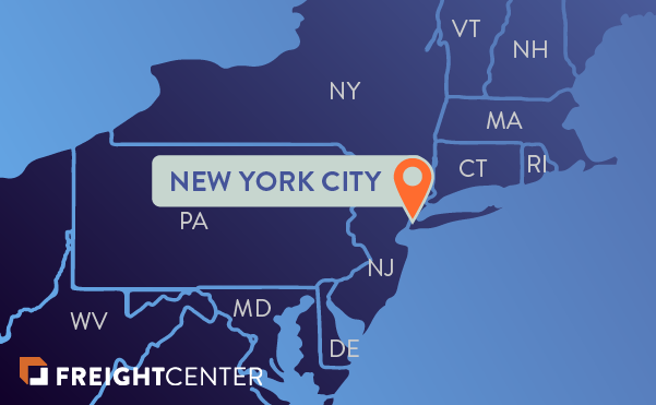 New York freight shipping map
