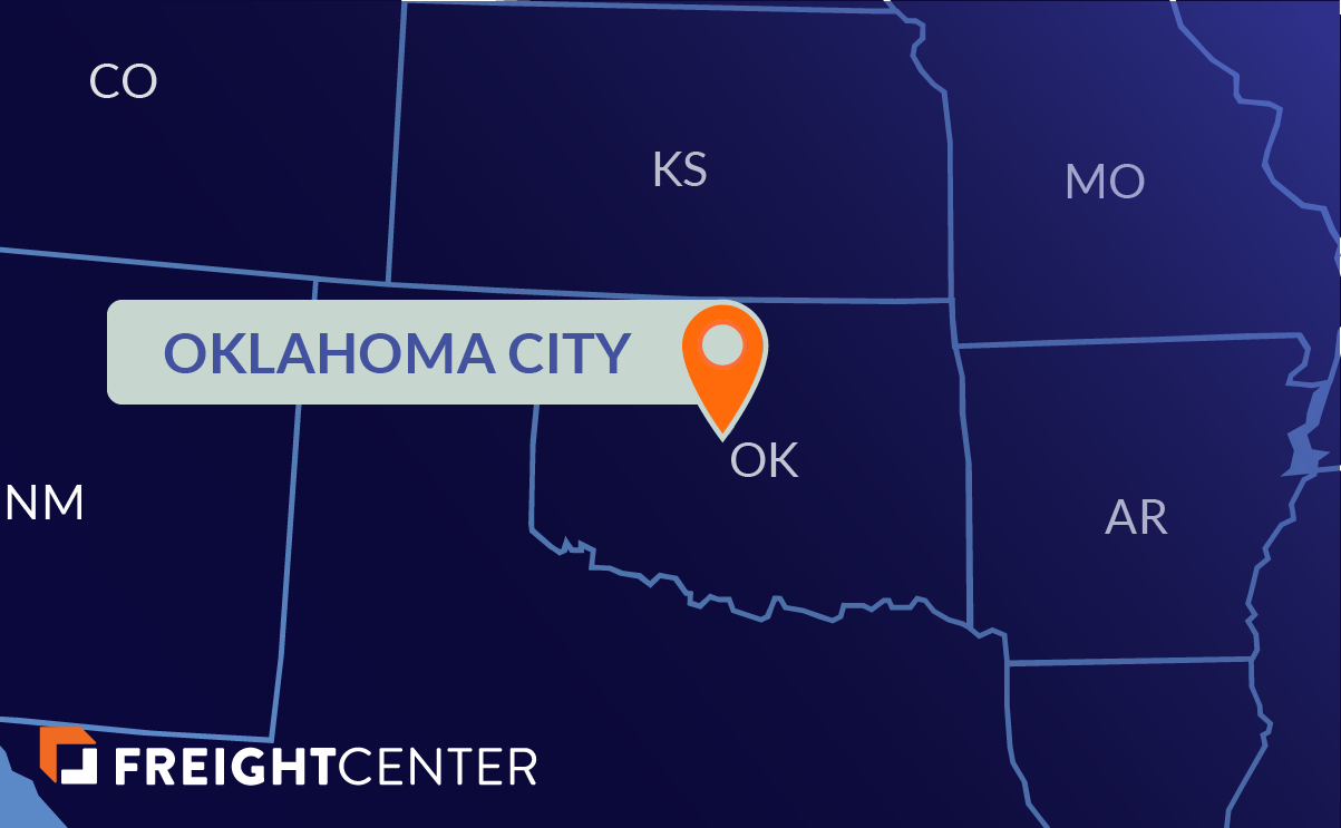 Oklahoma City freight shipping map