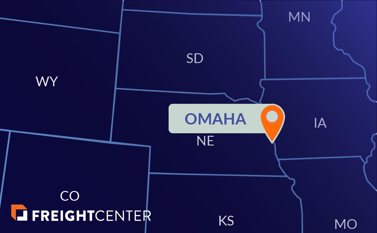 Omaha freight shipping map
