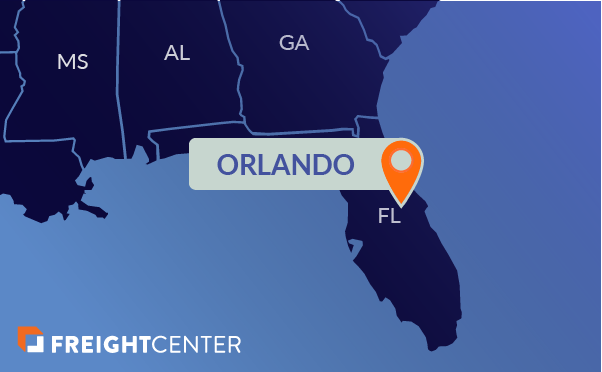 Orlando freight shipping map