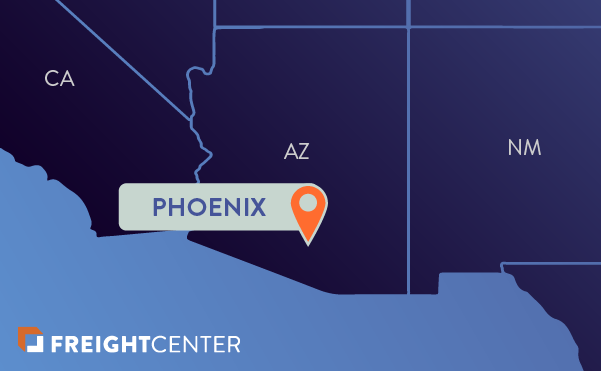 Phoenix freight shipping map