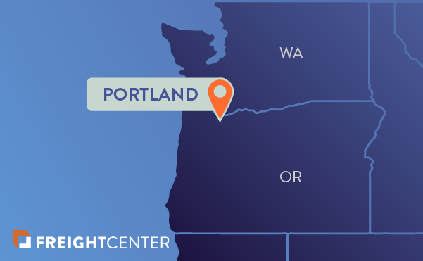Portland freight shipping map