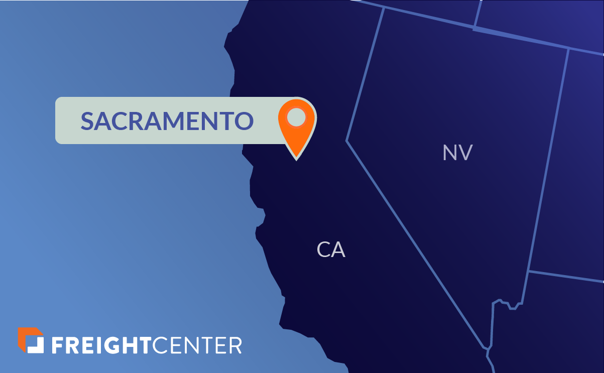 Sacramento freight shipping map