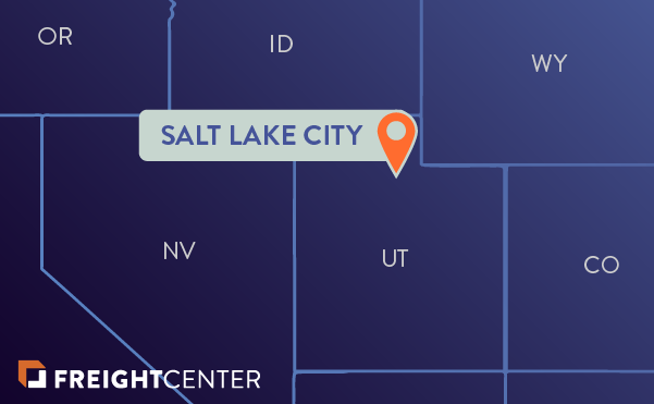 Salt Lake City freight shipping map