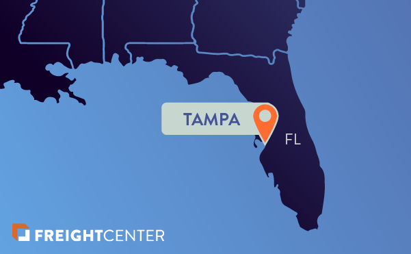Tampa freight shipping map
