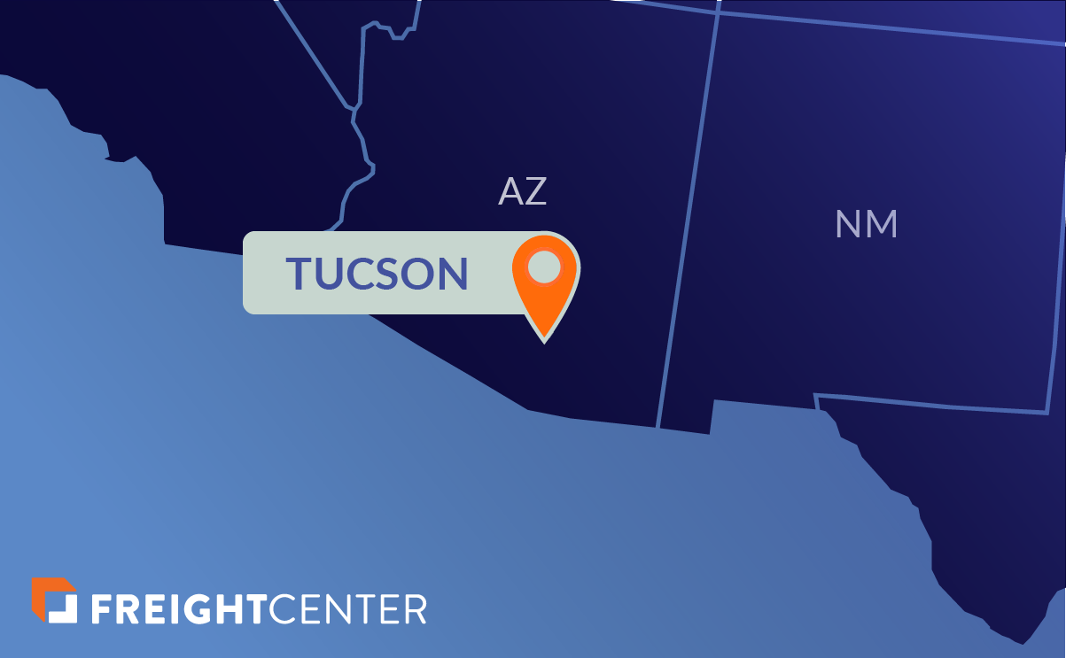 Tucson freight shipping map