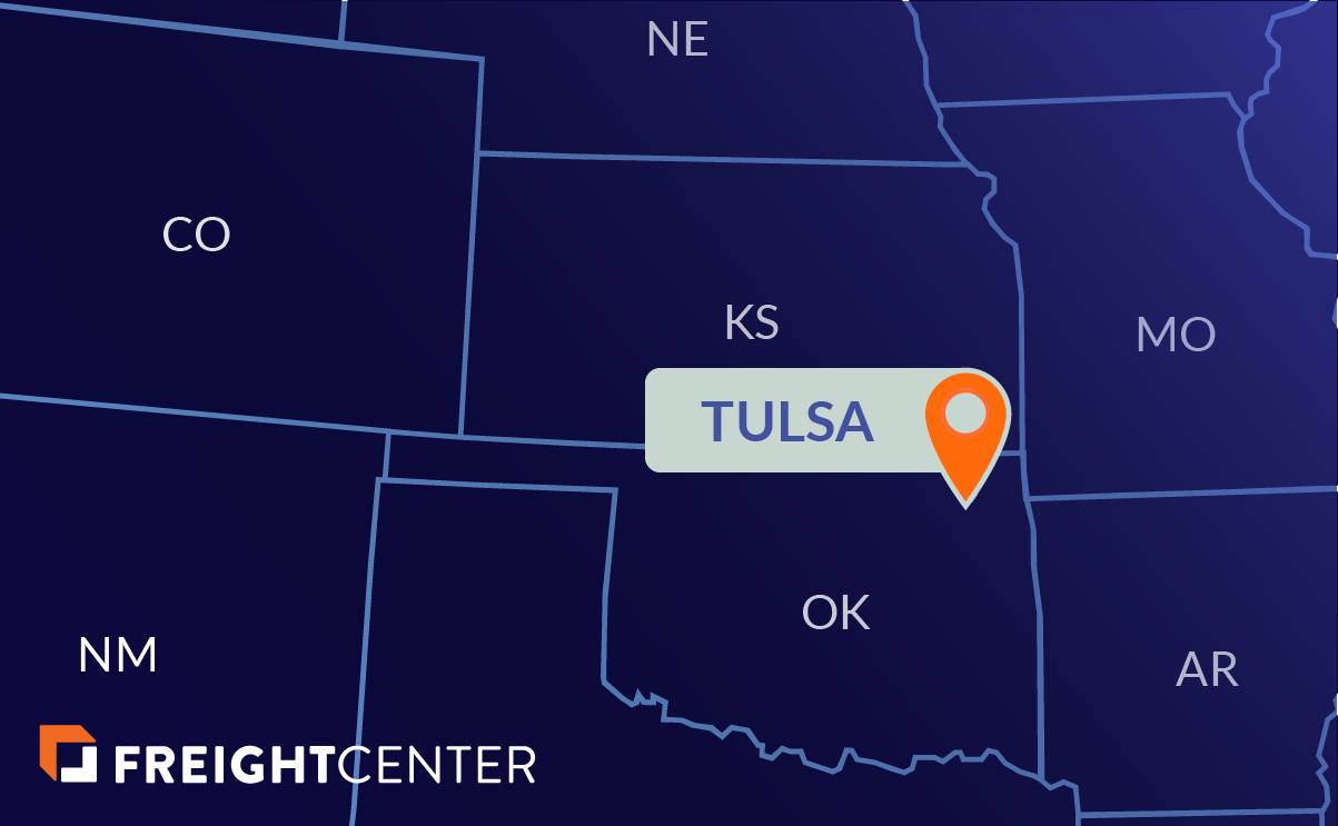 Tulsa freight shipping map