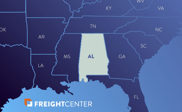 Alabama freight shipping map
