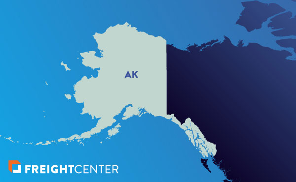 Alaska freight shipping map