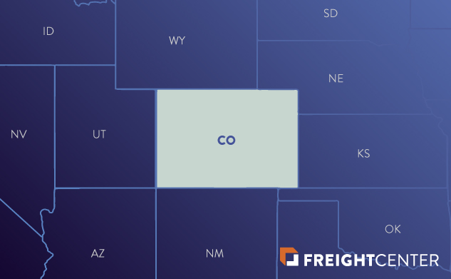 Colorado freight shipping map
