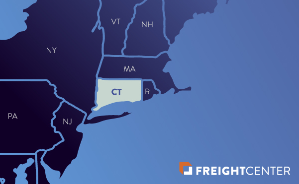 Connecticut freight shipping map