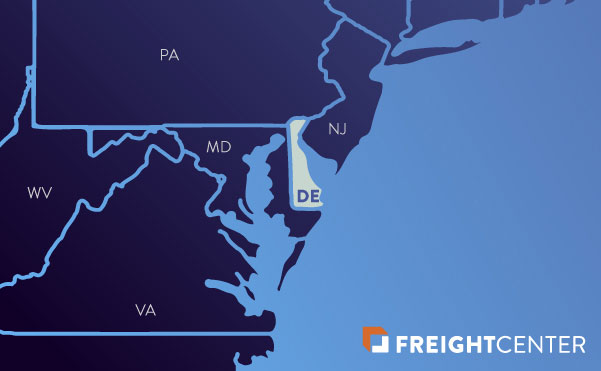 Delaware freight shipping map