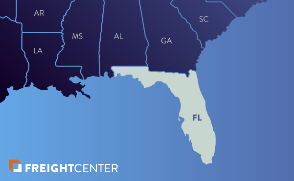 Florida freight shipping map