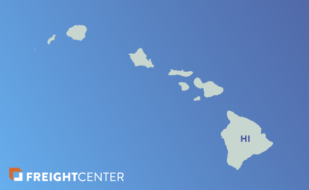 Hawaii freight shipping map