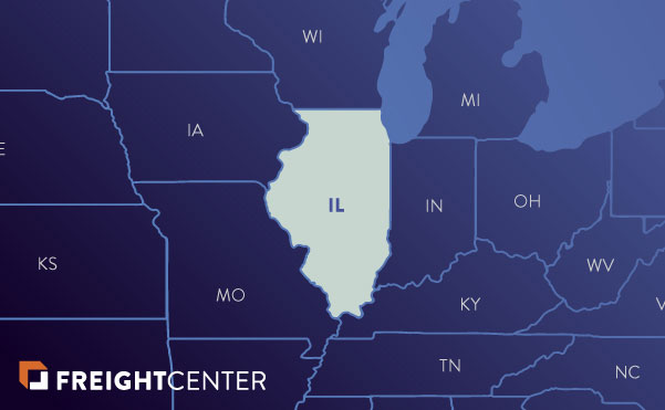 Illinois freight shipping map