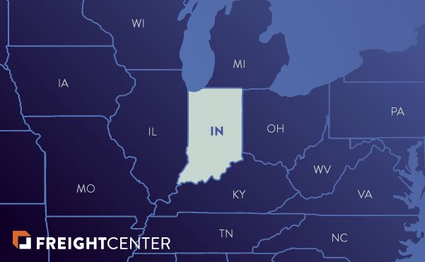 Indiana freight shipping map