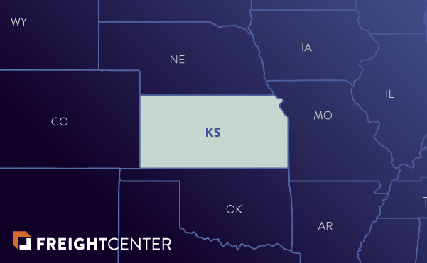 Kansas freight shipping map