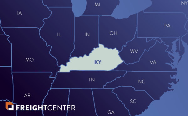 Kentucky freight shipping map