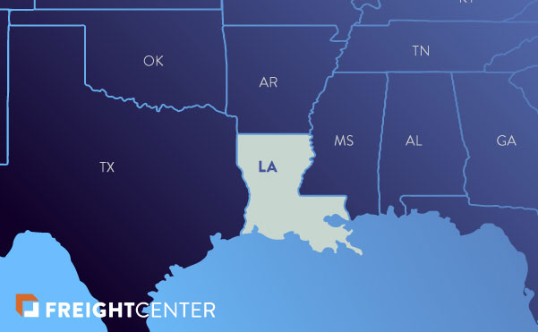 Louisiana freight shipping map