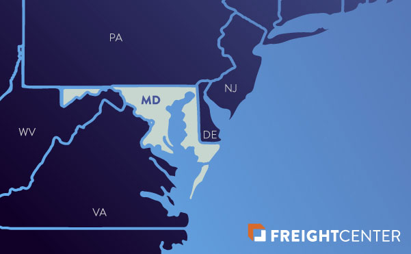 Maryland freight shipping map